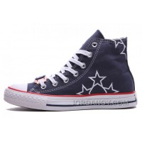 Blue High CONVERSE Star Embroidery Chuck Taylor All Star Canvas Shoes Online C5rJjkF