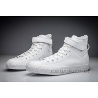 All White All Star High Tops CONVERSE Single Buckle Leather Online DYHtxJ