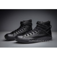 Full Black All Star CONVERSE Single Buckle Leather High Cheap To Buy RkQPmn