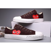 Brown CONVERSE Comme Des Garcons Suede Chuck Taylor All Star Low Online SykexS