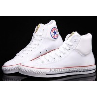 White CONVERSE Chuck Taylor Embroidery Padded Collar Leather All Star Christmas Deals 2HHwEF