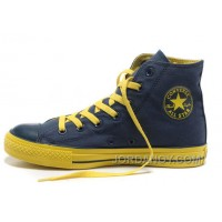 Dazzle Colour CONVERSE All Star Light High Tops Blue Yellow Casual Canvas Sneakers Lastest CZBrn