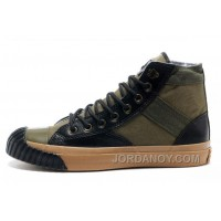 CONVERSE Army Green Mark Wahlberg Shooter All Star High Tops Canvas Black Leather Edge Mens Shoes Christmas Deals TZY86