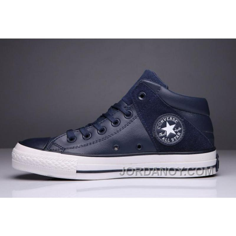 Blue CONVERSE Padded Collar All Star High Leather Terminator Genisys ... cf1e5a0db