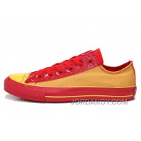 CONVERSE Successor Yellow Red Chuck Taylor All Star Ps Canvas Sneakers Cheap To Buy BJTiCD