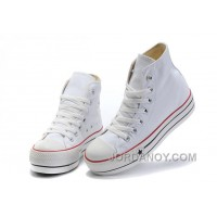 White Classic Platforms CONVERSE All Star Canvas Women Shoes Authentic