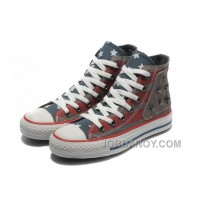 Red Grey CONVERSE American Flag Metal All Star The End Of The World Canvas Shoes Christmas Deals