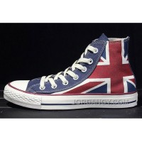 CONVERSE British Flag Rock Union Jack Red Blue Chuck Taylor All Star Canvas Sneakers Free Shipping Ec84mz