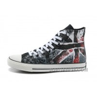 CONVERSE British Flag All Star Union Jack Flag Black Red Athletic Shoes Christmas Deals 4jjF32s