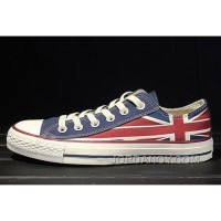 Red Blue CONVERSE Rock Union Jack British Flag Chuck Taylor All Star Canvas Sneakers Free Shipping DhC4Jef