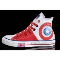 CONVERSE British Flag White Red Tonal Stitching Canvas Harper Beckham Online Hbsi7Z2
