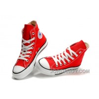 Red CONVERSE Chuck Taylor All Star Canvas Sneakers Discount As3Th