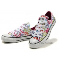 CONVERSE All Star Peace And Love White Canvas Shoes Women Cheap To Buy