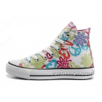Womens CONVERSE All Star Peace And Love White Canvas Shoes Cheap To Buy 5Tmcx