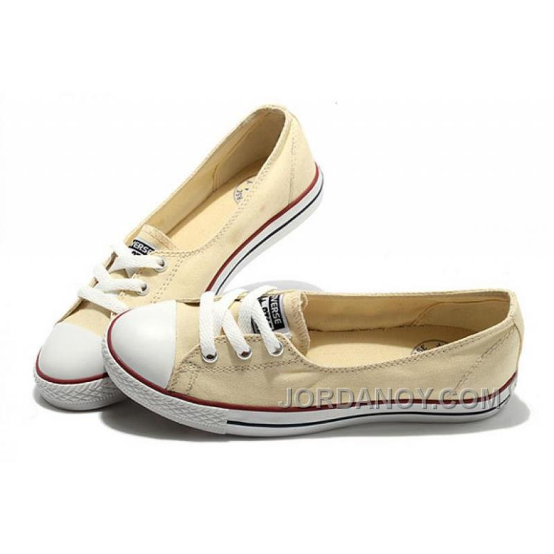 5b92c674cbf USD  65.00  162.50. CONVERSE Chuck Taylor Off White Ballet Flats Dainty Ballerina  All Star Summer Traning Sneakers ...
