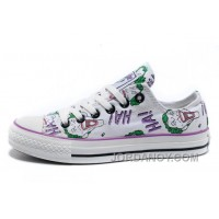 Joker HA Print CONVERSE All Star White Canvas Women Shoes Authentic D2YdF4