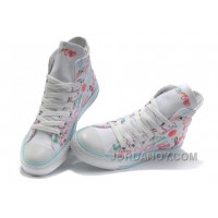 White CONVERSE All Star Chuck Taylor True Love Graffiti Canvas Shoes Free Shipping KSm75S