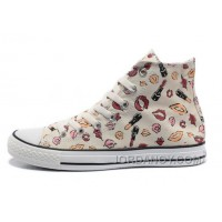 New Chuck Taylor All Star Coco CONVERSE White Womens Lipstick Lips Print Canvas Christmas Deals NhCF8SZ