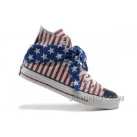 All Star Red CONVERSE American Flag Blue Scarf Cravat Stripes Lastest BebBez