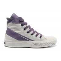 CONVERSE Girls White Purple Painted Shoes Women Discount G46sY2