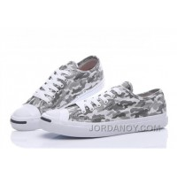 Grey CONVERSE Jack Purcell Profile Camo Slip Canvas Low Online 8afCQ
