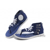 Blue CONVERSE Roman Gladiator Women Summer Rivet Zipper Chuck Taylor All Star Sandals Authentic TPPmHE