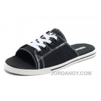 Black CONVERSE All Star Light Slippers Summer Collection By Avril Lavigne Canvas Authentic BfP77H