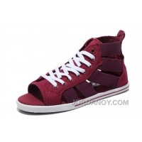 CONVERSE Open E Elastic Band Gore Wine Red All Star Roman Sandals Cheap To Buy T8sYfCm