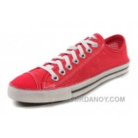 Red CONVERSE Summer Collection Mesh Style Chuckout All Star Tops Casual Shoes Super Deals SYjzp