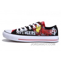For Sale Iron Man CONVERSE Printed The Avengers Comics Black Red Shoes EZpRGah