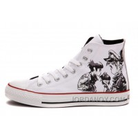 X CONVERSE X Gorillaz White Chuck Taylor All Star High Tops Free Shipping W2ZcTS