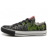 Hulk Shoes CONVERSE Black Green The Avengers Chucks Taylor Tops Sneakers Christmas Deals PCZQHY