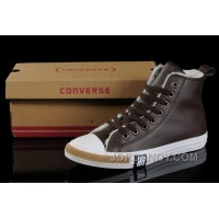 Brown Soft Nap CONVERSE Winter All Star Shearling Leather Shoes Christmas Deals XYD7dH
