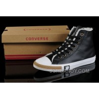 Black Soft Nap CONVERSE Winter All Star Shearling Leather Shoes Discount JYFwJw