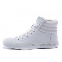 Full White CONVERSE Embroidery Leather Padded Collar Winter CTAS Shoes Authentic XkiBrRM