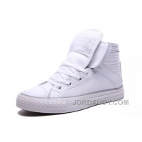 White CONVERSE Big Tongue Velcro Winter Leather CT All Star Shoes Christmas Deals APMex