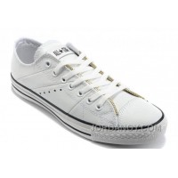 White Leather CONVERSE By John Varvatos Double Zipper Oxford Winter Chuck Taylor All Star Tops Sneakers For Sale NjDid