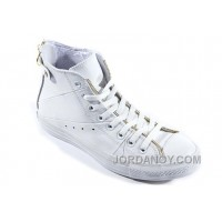 White Leather CONVERSE Double Zipper John Varvatos Oxford Winter Chuck Taylor All Star High Tops Sneakers Christmas Deals 3BH3K