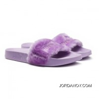 Fur Mens Slide Sandals Orchid Bloom-Puma Silver Authentic