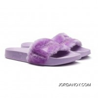 Fur Womens Slide Sandals Orchid Bloom-Puma Silver New Style
