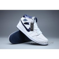 "2017 Air Jordan 1 Retro ""Metallic Navy"" White/Metallic Navy Authentic"