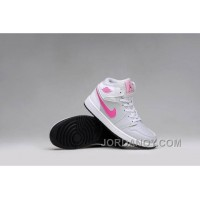 Top Deals Girls Air Jordan 1 Grey Pink White Shoes For Sale