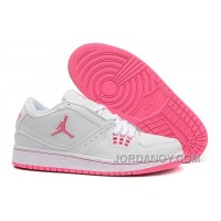 Christmas Deals Girls Air Jordan 1 Low White Pink Shoes For Sale