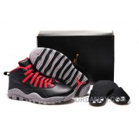 "New Air Jordan 10 GS ""PSNY"" X Public School Black-Grey/Gym Red Top Deals"