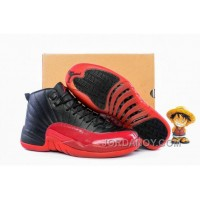 "Authentic 2016 Air Jordan 12 GS ""Flu Game"" Black/Varsity Red"