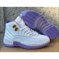 "Online 2017 Air Jordan 12 GS ""Dark Purple Dust"" For Sale"