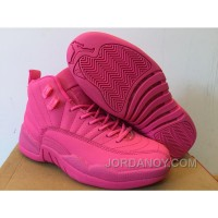 New Air Jordan 12 GS All Pink Shoes Authentic