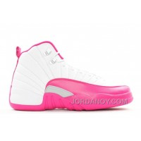 "Cheap To Buy Girls Air Jordan 12 GS ""Vivid Pink"" White/Metallic Silver/Vivid Pink 2016"