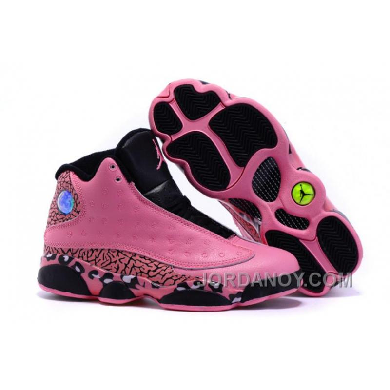7bb119d052545a USD  85.31  173.19. Top Deals 2016 Girls Air Jordan 13 Black Pink Leopard  Print Shoes For Sale ...
