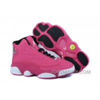 New Air Jordan 13 GS Fusion Pink/Black-White Free Shipping
